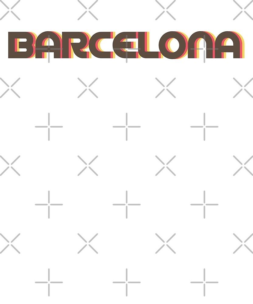 Retro Barcelona T-Shirt by designkitsch
