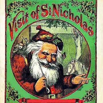 Vist St Nicholas - Vintage Santa illustration by Geekimpact