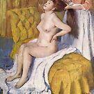 Edgar Degas French Impressionism Oil Painting Nude Woman Brushing Hair by jnniepce