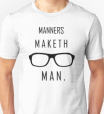 "Kingsman: ""Manners maketh man."" T-Shirt"