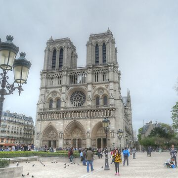 Notre Dame with St Germaine & the Lamp Post by Michaelm43