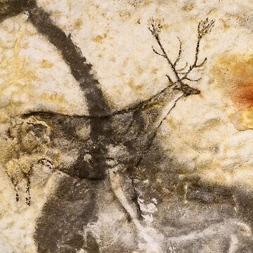 Lascaux Hall of the Bulls - Jumping Deer - Blue by WWestmoreland