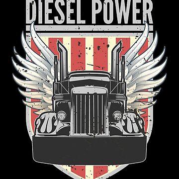 Diesel Power Flag | Truck Turbo Mechanic T-Shirt by JohnPhillips