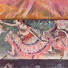 Edgar Degas French Impressionism Oil Painting Ballerinas Performing on Stage by jnniepce