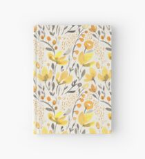Yellow field Hardcover Journal
