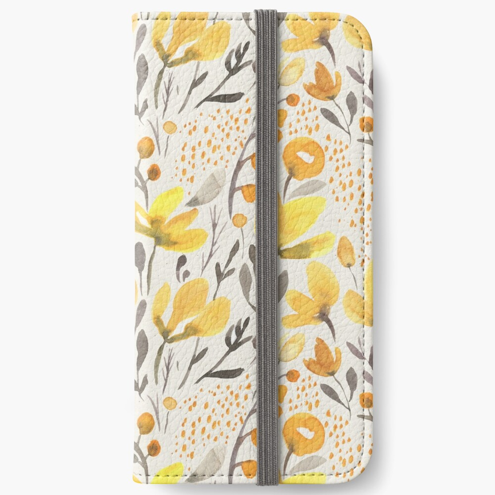 Yellow field iPhone Wallet