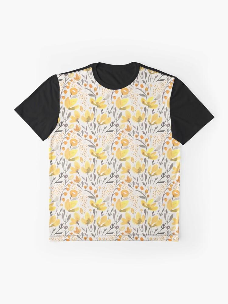 Alternative Ansicht von Gelbes Feld Grafik T-Shirt
