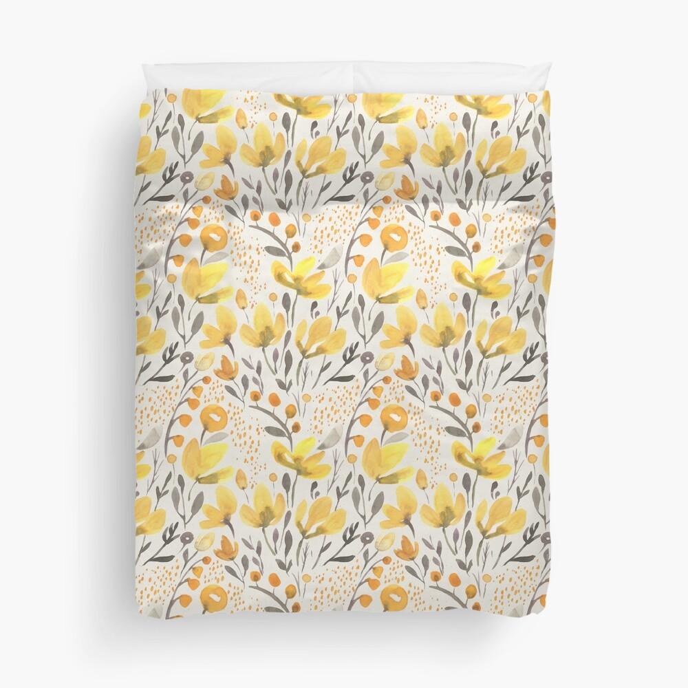 Yellow field Duvet Cover
