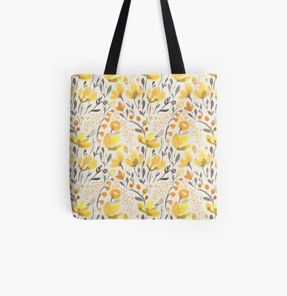 Yellow field All Over Print Tote Bag
