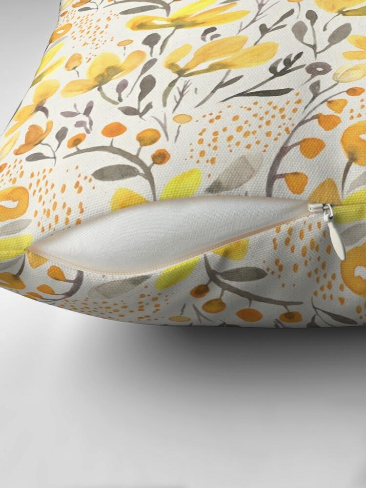 Alternate view of Yellow field Floor Pillow