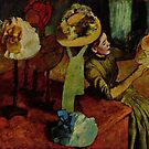 Edgar Degas French Impressionism Oil Painting Woman Working with Hats by jnniepce