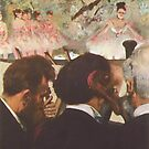 Edgar Degas French Impressionism Oil Painting Ballerinas Performing on Stage with Orchestra by jnniepce
