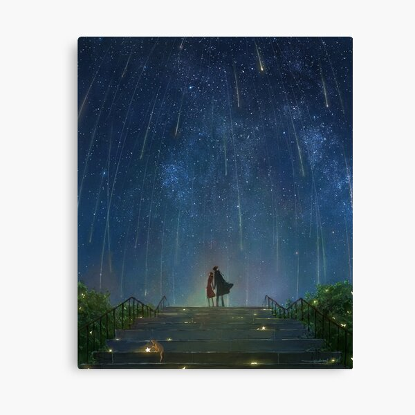 If stars come down and become flowers. Canvas Print