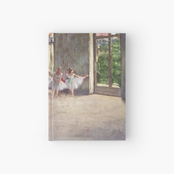 Edgar Degas French Impressionism Oil Painting Ballerinas Rehearsing Dancing Hardcover Journal
