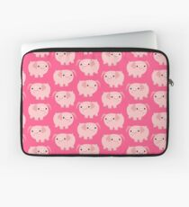 Cute Smart Cartoon Pigs by Cheerful Madness!! Laptop Sleeve