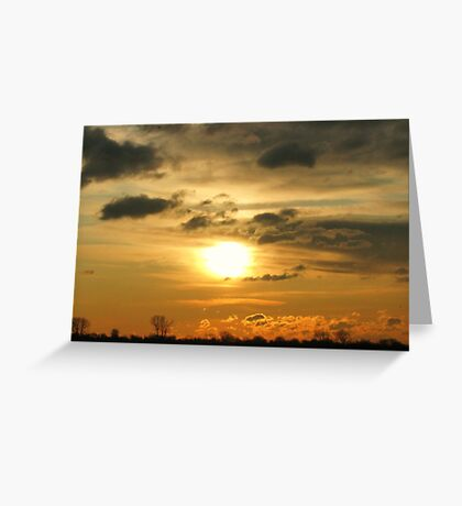 Sunrise over Atlantic ocean near New York City Greeting Card