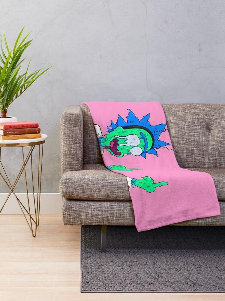 Alternate view of Rick Sanchez Throw Blanket