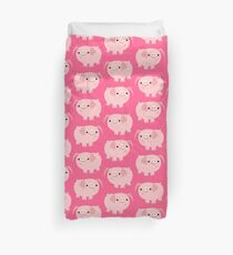 Cute Smart Cartoon Pigs by Cheerful Madness!! Duvet Cover