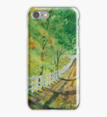 Receding Fence Line 1 iPhone Case/Skin