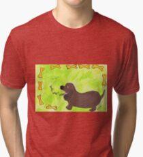 Camiseta de tejido mixto Salchicha cutie