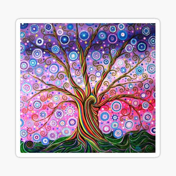 Árbol de la raya de caramelo de la vida Pegatina