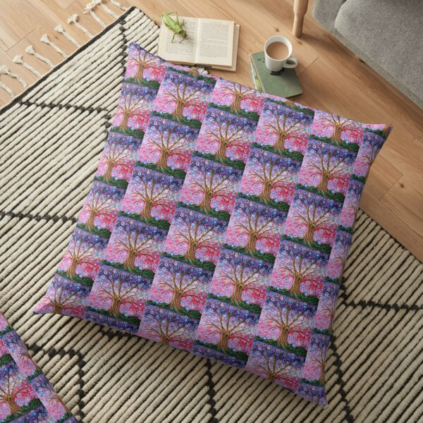 Candy Stripe Tree of Life Floor Pillow
