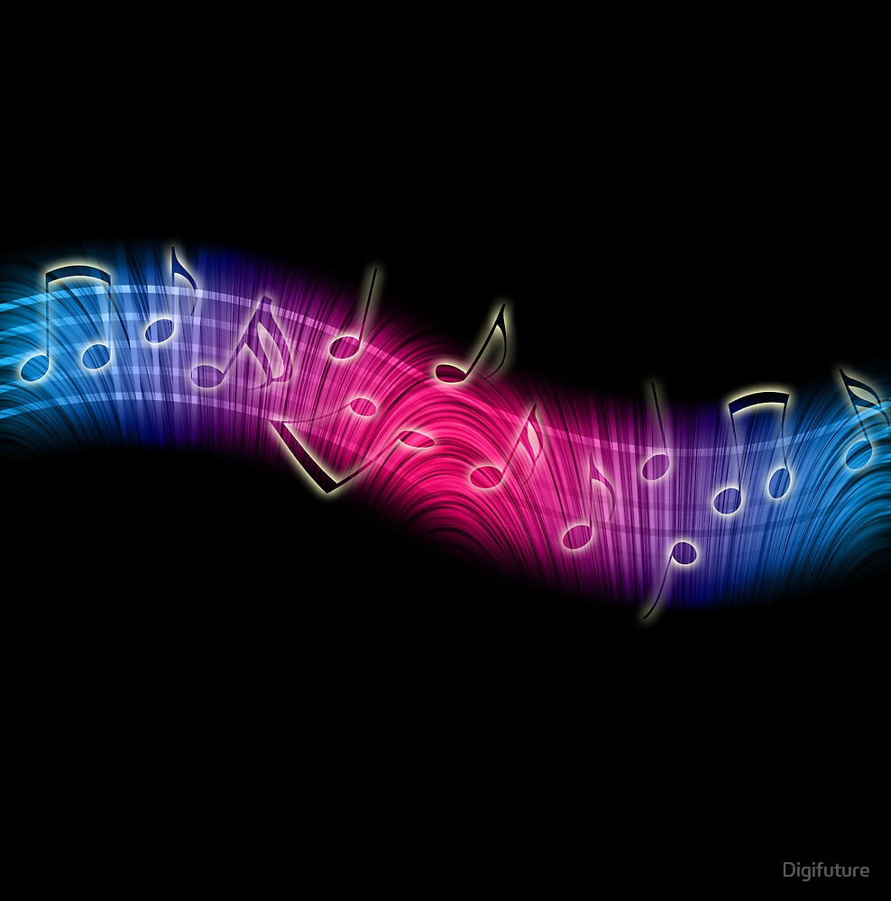 Dancing Music Notes by Digifuture
