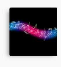 Dancing Music Notes Canvas Print