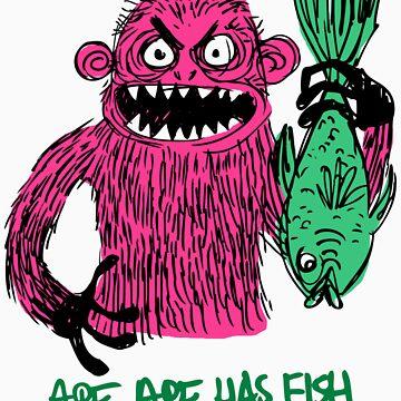 Ape Ape Has Fish by apeape