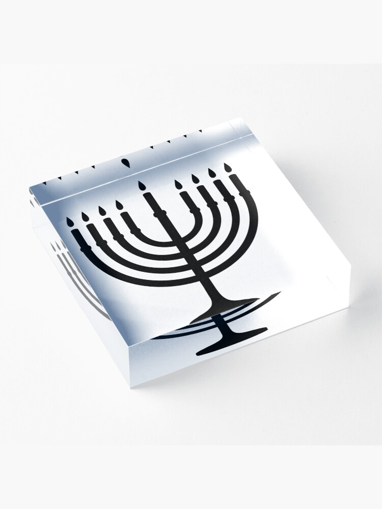 Alternate view of Menorah, sacred, candelabrum, seven branches, Temple, Jerusalem, Bezalel Acrylic Block