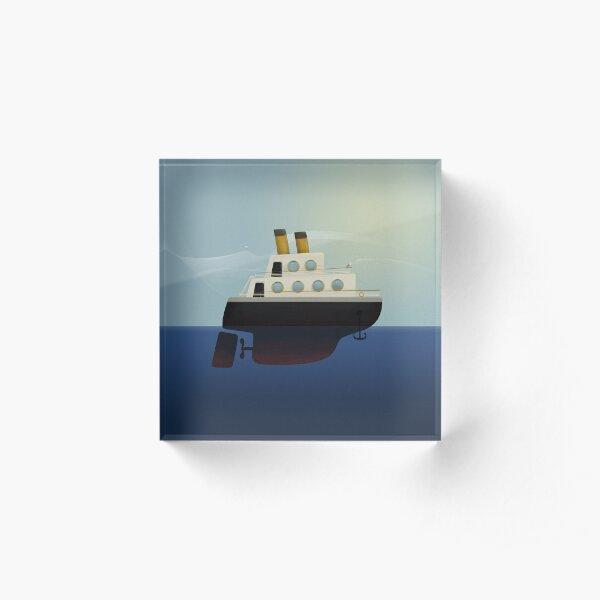 The little big boat on the sea Acrylic Block