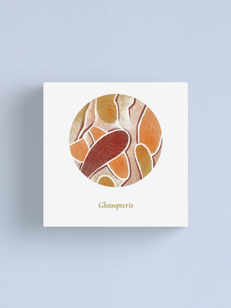 Alternate view of The Circles of Life: Glossopteris Canvas Print