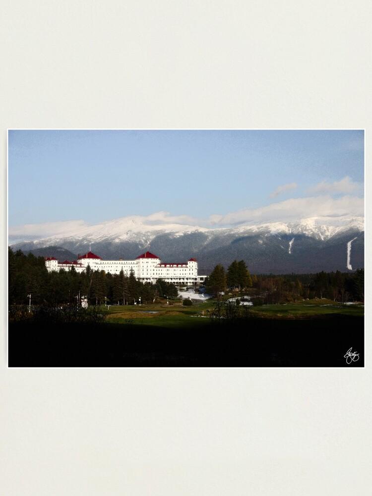 Alternate view of Last Light on the Mount Washington Hotel Photographic Print