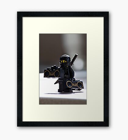 The Black Ninja Framed Print