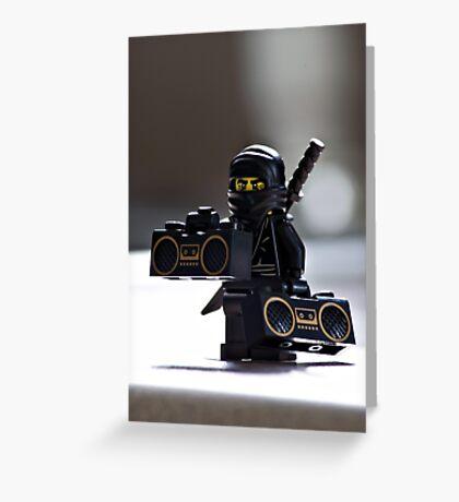 The Black Ninja Greeting Card