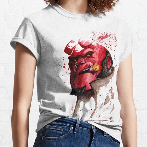 Hellboy Watercolor Design Comic Fanart Classic T-Shirt