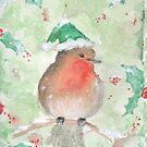 « Rouge gorge de Noël » par avec2ailes