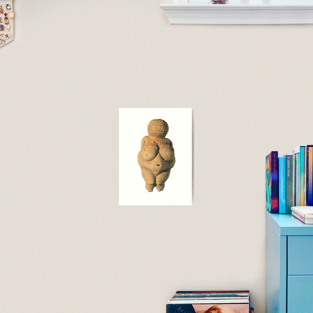 #Venus of #Willendorf #artifact sculpture art figurine statue humanbody #VenusofWillendorf Art Print