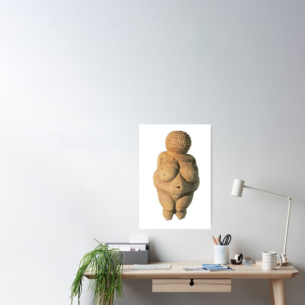 #Venus of #Willendorf #artifact sculpture art figurine statue humanbody #VenusofWillendorf Poster
