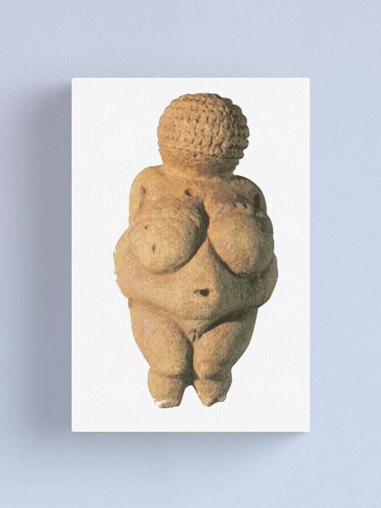 Alternate view of #Venus of #Willendorf #artifact sculpture art figurine statue humanbody #VenusofWillendorf Canvas Print