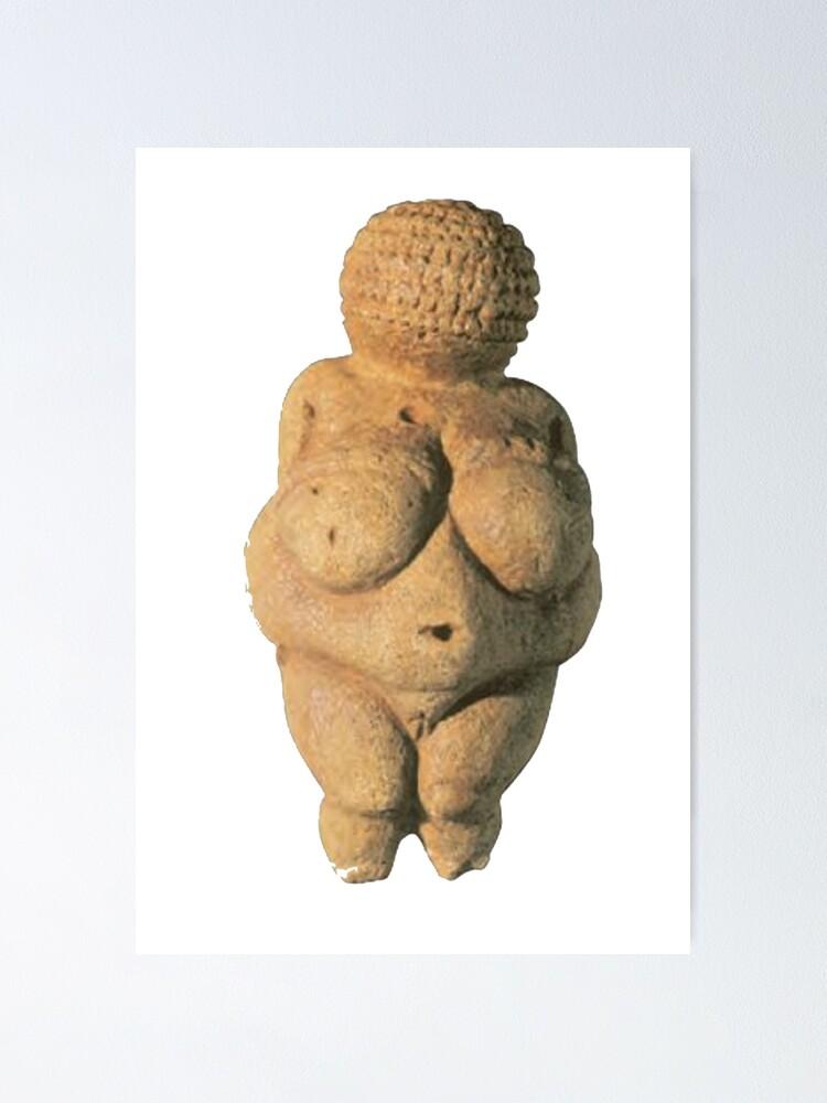 Alternate view of #Venus of #Willendorf #artifact sculpture art figurine statue humanbody #VenusofWillendorf Poster