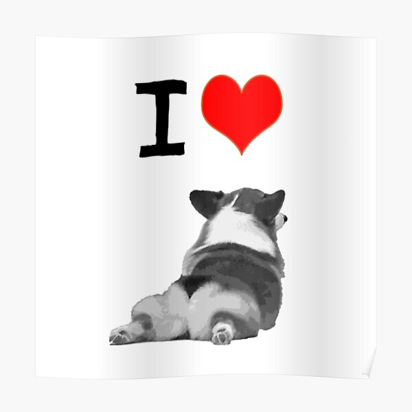 I love Corgi Butts Poster