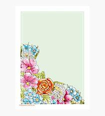 Paradise Paper #001 - Calm - Florales Aquarell Fotodruck