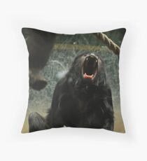My, what big teeth you have... Throw Pillow