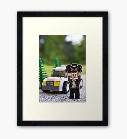 Say (Something) Framed Print