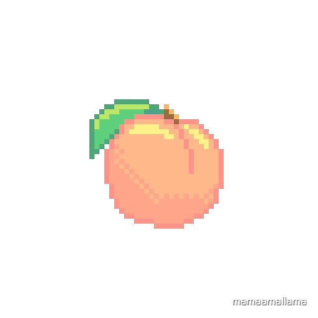 """Pixel Peach"" By Mamaamallama"