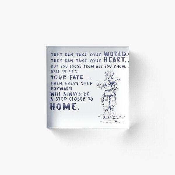 Kingdom Hearts 3 Quote Acrylic Block