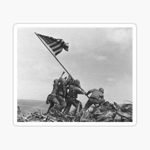 Raising the Flag on Iwo Jima. By Joe Rosenthal. Sticker