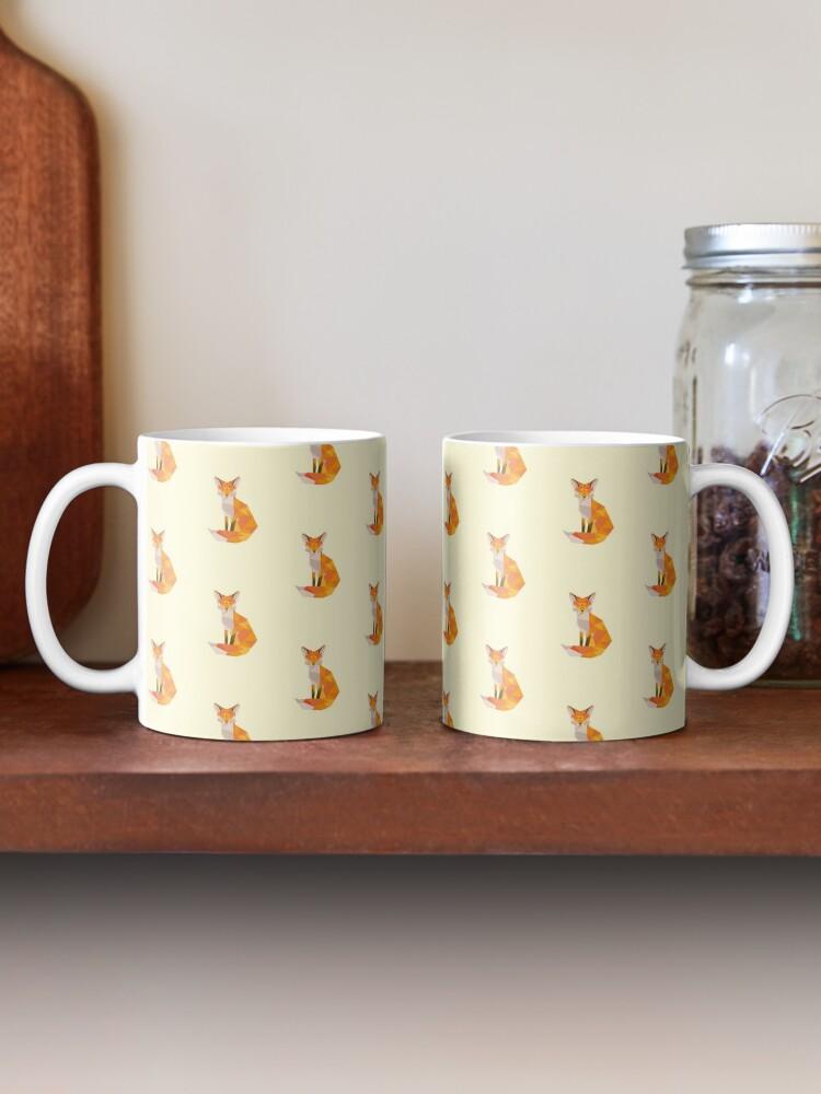 Alternate view of Geometric Fox Mug
