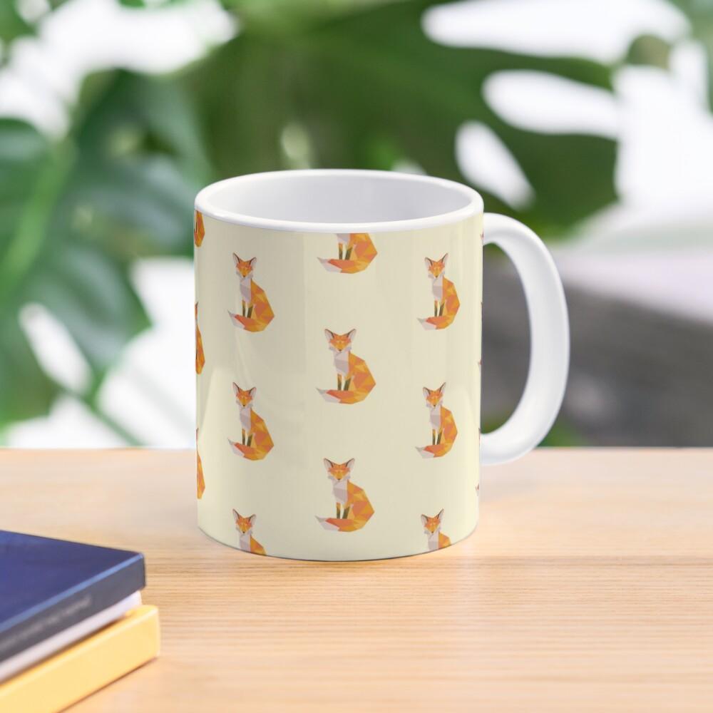 Geometric Fox Mug